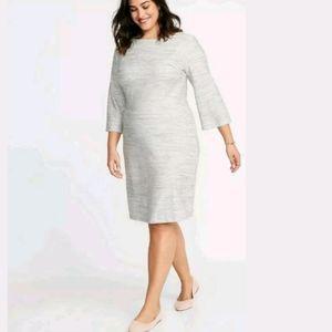 Old navy Women's Gray Flattering Knit dress Sz XXL